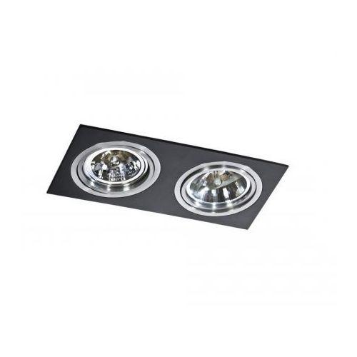 Azzardo Oczko lampa sufitowa oprawa wpuszczana siro 2 2x50w ar111 czarny gm2200 az0772 (5901238407720)