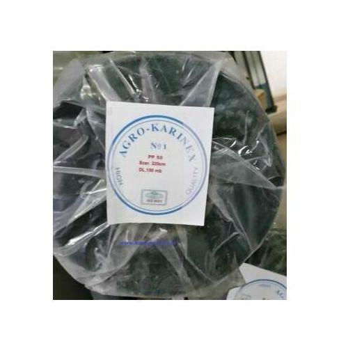 Agrowółknina ściółkujaca pp 50 g/m2 czarna 3,2 x 100 mb. rolka złozona na 160 cm i wadze 17,3 kg. marki Agrokarinex