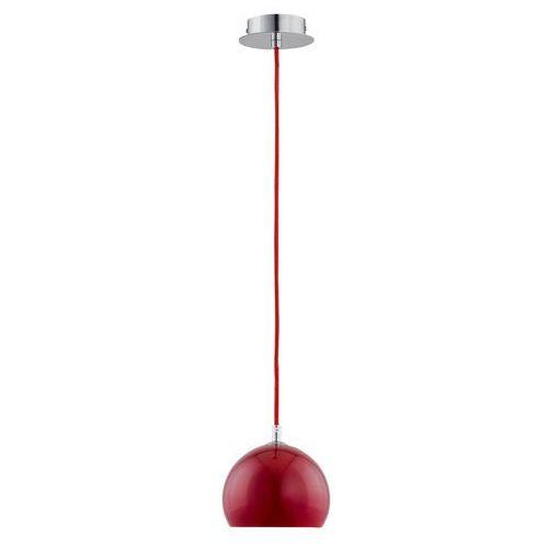 Lampa wisząca zwis waterfall red 1x40w e14 chrom/czerwona 21011. >>> rabatujemy do 20% każde zamówienie!!! marki Alfa