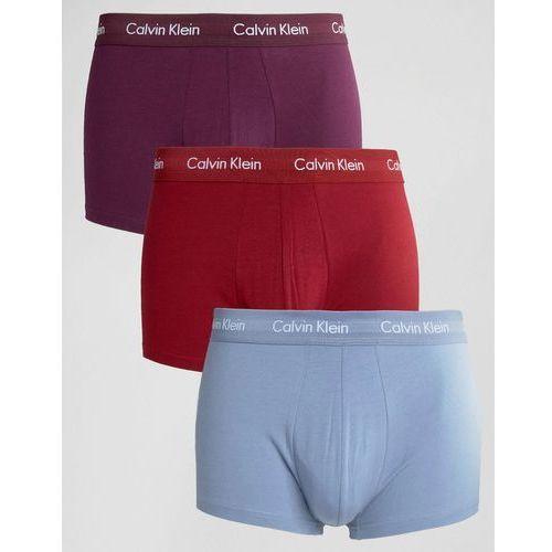 trunks 3 pack low rise cotton stretch - multi wyprodukowany przez Calvin klein