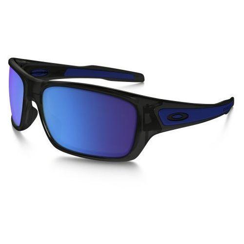 Okulary Oakley Turbine Black Ink Sapphire Iridium OO9263-05, kolor czarny