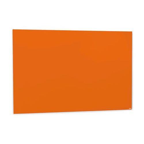 Szklana tablica suchościeralna, 1500x1000 mm, jaskrawy pomarańczowy marki Aj produkty