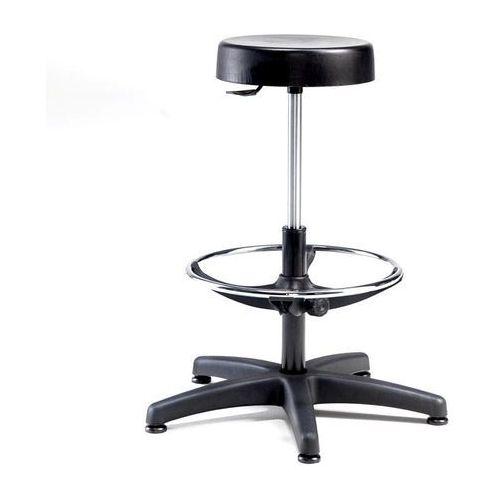 Stołek warsztatowy CAIRNS, Ø 310 mm, poliuretan, czarny, 21136
