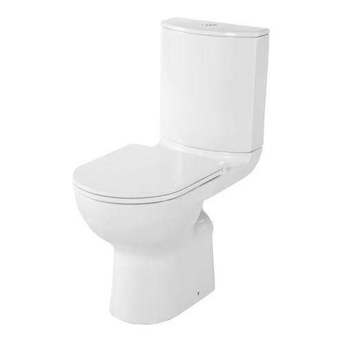 Kompakt WC GoodHome Cavally Slim bezkołnierzowy poziomy wysoki 3/6 l z deską wolnoopadającą, HDC606HP/S606L-SS