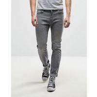 Lee Rider Stretch Slim Jeans Sidewalk Grey Wash - Grey, kolor szary