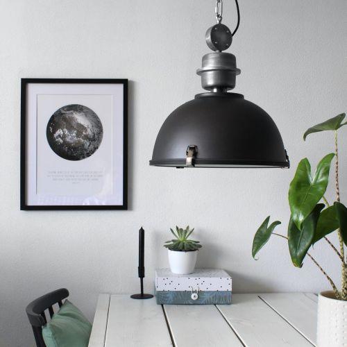 Steinhauer Bikkel Lampa wisząca Czarny, 1-punktowy - Przemysłowy - Obszar wewnętrzny - Bikkel - Czas dostawy: od 3-6 dni roboczych (8712746100068)