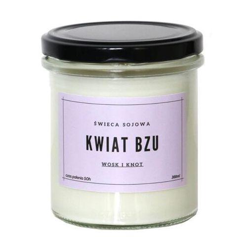 Cup&you cup and you Świeca sojowa kwiat bzu - aromatyczna ręcznie robiona naturalna świeca zapachowa w słoiczku 300ml