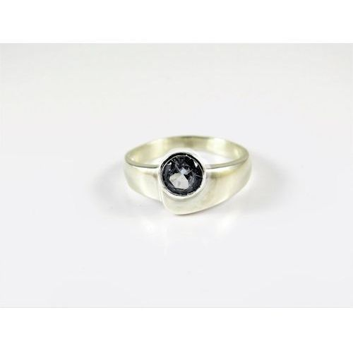 Srebrny pierścionek 925 BŁĘKITNE OCZKO r. 12