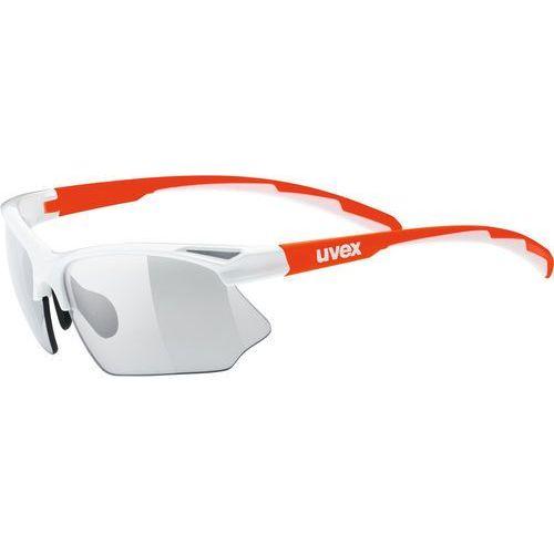 Uvex sportstyle 802 v okulary rowerowe pomarańczowy/biały 2019 okulary sportowe
