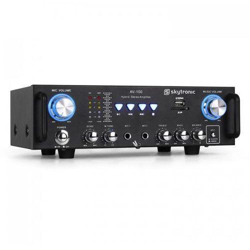 Skytronic 103.208 av-100 wzmacniacz hi-fi pa karaoke sd usb (8715693262599)