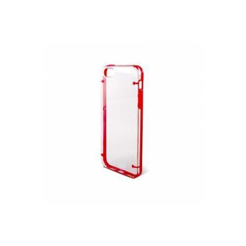 KSIX Etui HARD COVER EDGE do Apple iPhone SE/5S/5 różowe kraw. - przeźroczyste Odbiór osobisty w ponad 40 miastach lub kurier 24h