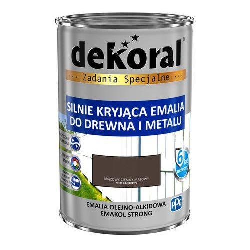 Dekoral Emalia emakol strong ciemnobrązowa mat 0,9 l