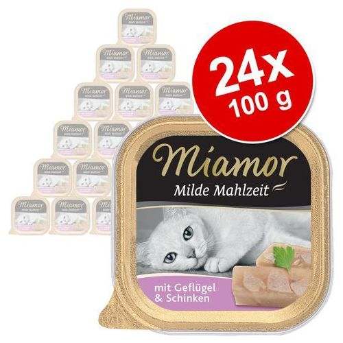Miamor milde mahlzeit - konserwa mięsna smak: kura z szynką 16x100g