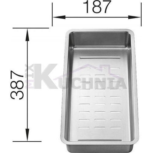 odsączarka stal nierdzewna 387x187 mm marki Blanco