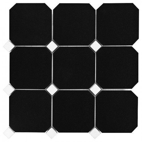 b&w black & white mozaika granite black octagon 100 marki Dunin