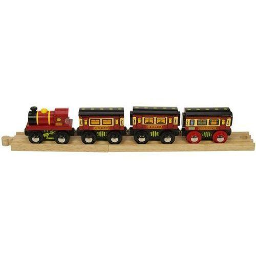 Pociąg z Wagonami Sypialnymi do zabawy dla dzieci, wyposażenie kolejek Bigjigs