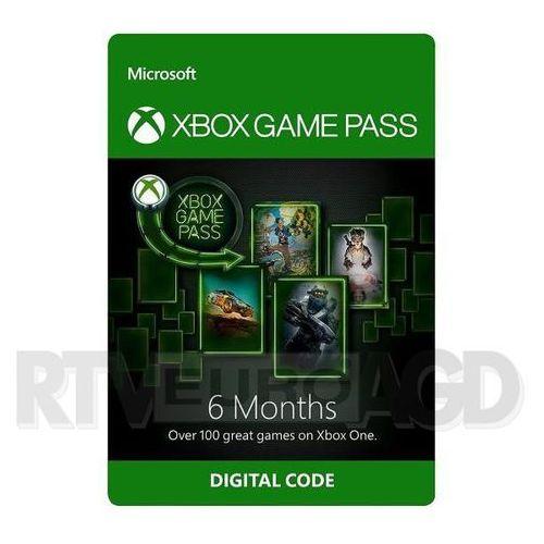 Subskrypcja xbox game pass (6 m-ce) [kod aktywacyjny] marki Microsoft