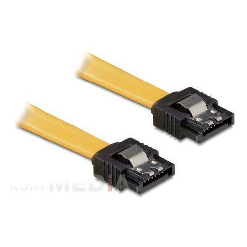 Delock  kabel sata data 50cm z zatrzaskami metalowymi (82477) darmowy odbiór w 18 miastach!