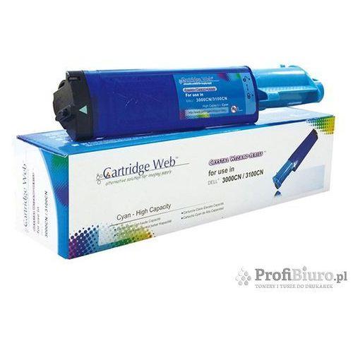 Cartridge web Toner cw-d3000cn cyan do drukarek dell (zamiennik dell 593-10061 / k4973) [4k] (4714123960016)