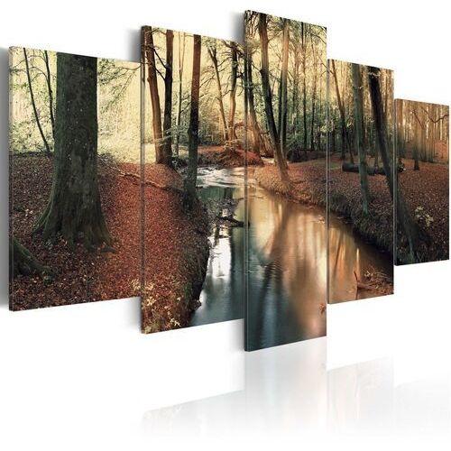 Obraz - Brązowa jesień: las