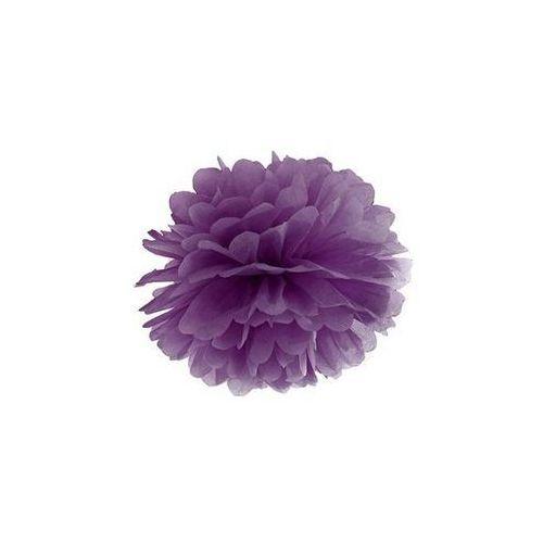 Party deco Dekoracja wisząca pompon kwiat - purpurowa - 25 cm - 1 szt.
