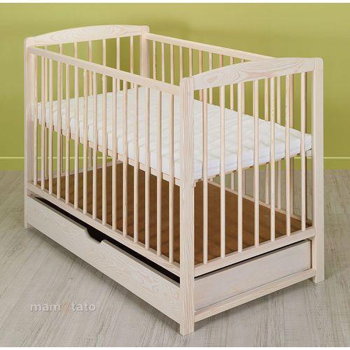 Mamo-tato łóżeczko dla niemowląt maja 60x120 cm z szufladą - biel transparentna