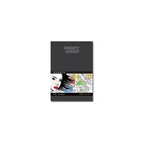 Blok do markerów A4 HAPPY COLOR 100g 25 kartek, 5905130008429