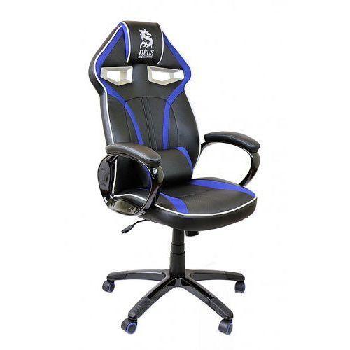 Fotel obrotowy gamingowy DRAGON Black/Blue/Black