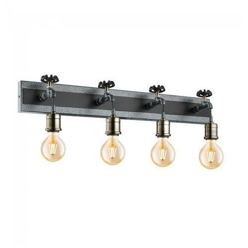 Eglo Kinkiet goldcliff 49104 lampa ścienna spot listwa 4x60w e27 srebrny-antyczny/czarny