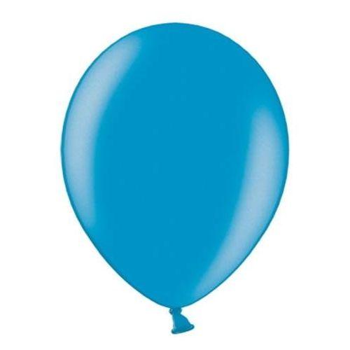 """Balony 12"""" Strong, Niebieskie, Carrib. Blue, metaliczne 100 szt. (5901157485496)"""
