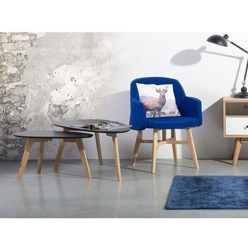 Stolik kawowy szary - ława kawowa - stół - fly ii marki Beliani