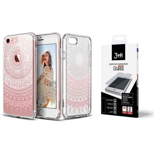 ZESTAW | ETUI ESR ART CASE PINK MANSJUSAKA + FOLIA 3MK FLEXIBLE - iPhone 7 / 8, kolor różowy
