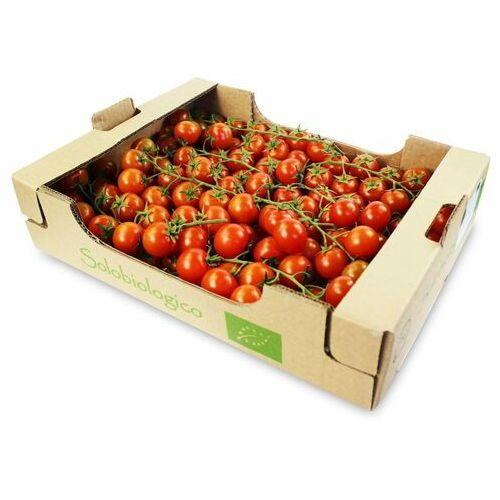 Świeże dystrybutor: bio planet s.a., wilkowa wieś 7, 05-084 leszno k. Opakowanie zbiorcze (kg) - pomidory cherry na gałązce świeże bio (około 3 kg) (5902488064596)