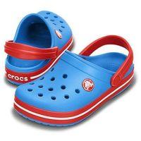 Crocs Kids Crocband Ocean Red Niebiesko-czerwone klapki dla dzieci Różne rozmiary