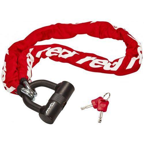Red Cycling Products High Secure Chain Plus Łańcuch rowerowy z zamkiem, red 2019 Łańcuchy (4052406105649)