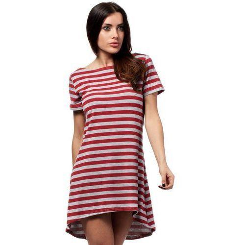 MOE164 Sukienka czerwona