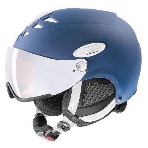 Kask narciarski hlmt 300 visor granatowy mat xl (60-61 cm) marki Uvex