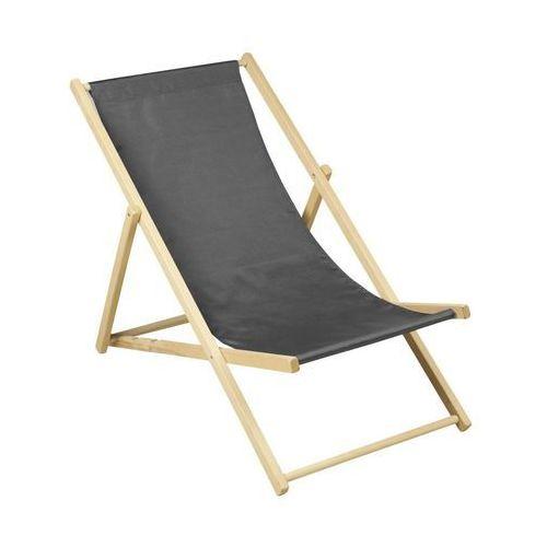 Ołer Leżak plażowy drewniany antracytowy