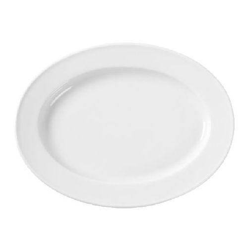 Fine dine Półmisek owalny porcelanowy bianco