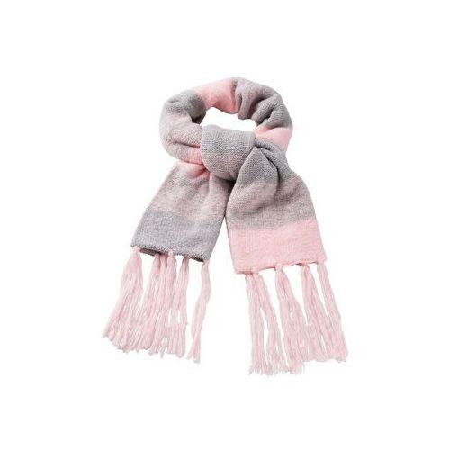 Szal kolorowy bonprix kwarc różowy - jasnoszary melanż, kolor wielokolorowy