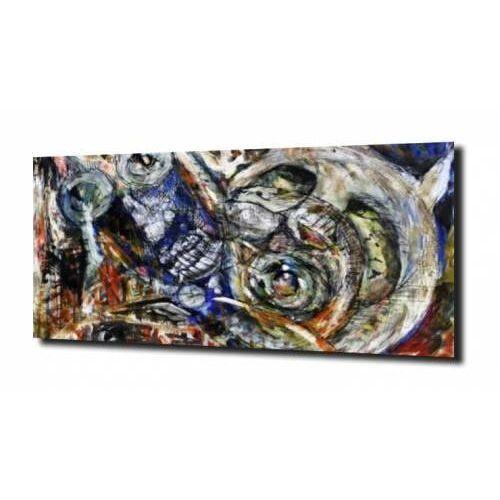 Obraz na szkle abstrakcja ekspresjonizm 29 100x80 marki Zahartowani.pl