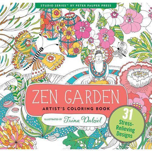 Kolorowanka artystyczna ogród zen - od 24,99zł darmowa dostawa kiosk ruchu marki Peter pauper press