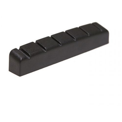 Graphtech Black TUSQ XL PT-6642-L0 - Acoustic/Electric Guitar Nut, Flat, Slotted, 1 21/32 length, 1/4 thick, 6-String, Lefthand Vers siodełko do gitary