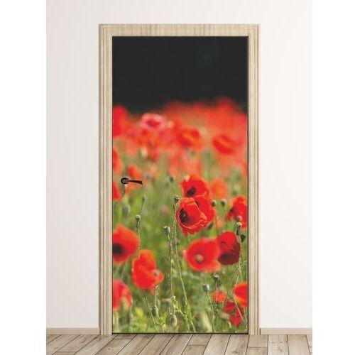 Wally - piękno dekoracji Fototapeta na drzwi pole maków fp 6217