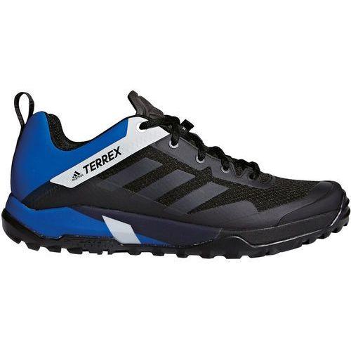 Adidas terrex trail cross sl buty mężczyźni niebieski/czarny uk 8   eu 42 2018 buty rowerowe