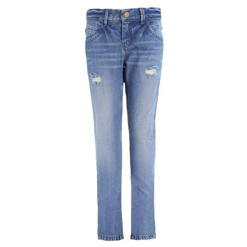 name it Telse Spodnie Jeans medium blue denim, kolor niebieski