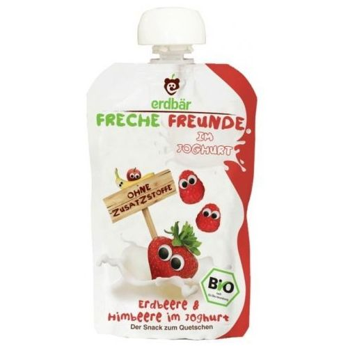 Jogurt Do Wyciskania Truskawka-Malina 100g EKO Erdbar Dla Dzieci (nabiał)