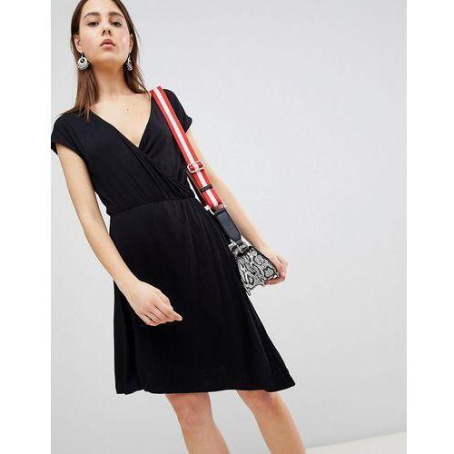crissy wrap dress - black, Brave soul, 36-38