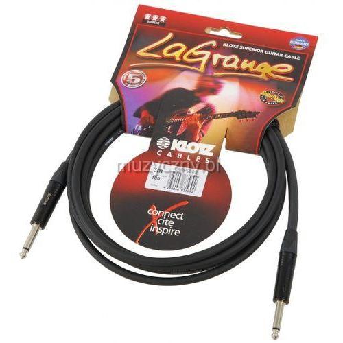 Klotz LAPP0300 LaGrange kabel gitarowy 3m, jack-jack, wtyki Neutrik