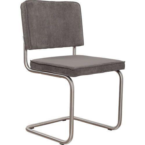 Zuiver krzesło ridge brushed rib szare 6a 1100082